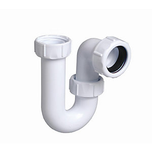Multikwik P032 32mm Tubular Swivel Trap White