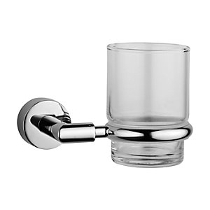 Vitra A44780ExP Chrome & Glass Minimax Toothbrush Holder