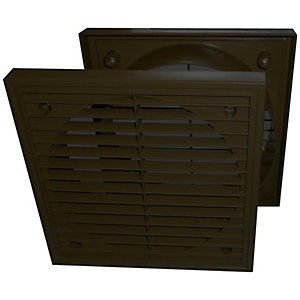 Manrose 1152BLK 100mm Fixed Grille - Black