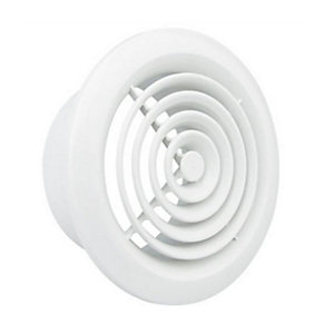Manrose 2100W 100mm White Internal Circular Grille