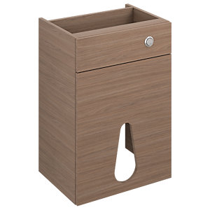 iflo Aliano WC Base Unit Walnut and Panel 500 x 380mm