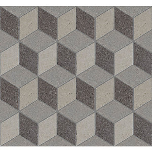 Art Rock Monochrome Mosaic Porcelain Wall & Floor Tile 295 x 340 mm (Pack Of 5)