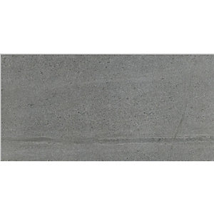 Rhin Anthracite Matt Wall & Floor Tile 600 x 300 mm (Pack Of 7)