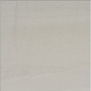 Rhin White Matt Wall & Floor Tile 600 x 600 mm (Pack Of 4)