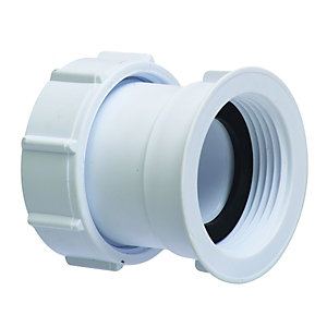 McAlpine Multifit Straight Female Connector White 32mm S29