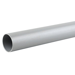 Wavin Osma Push-Fit Waste System Plain Ended Pipe Grey 50mm x 3m 2W073G