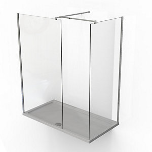 Kudos Ultimate2 10 mm Shower Enclosure Panel & Tray Pack 1600 x 800 mm 10WIC1680