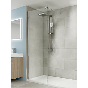 iflo Edessa Wet Room Hinged Screen with Return Panel 300mm