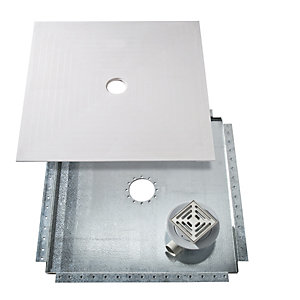 Kudos Wr1300 1300x 1300mm Floor4Ma Wet Room Shower Base Kit (Includes Metal Tray & Waste)