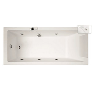 Novellini Calos Straight Whirlpool Bath 1700 x 700 mm No Tap Hole CA1317070PC-A0K