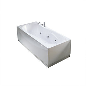 Novellini Sinuosa Straight Whirlpool Bath 1800 x 800 mm No Tap Hole SIN418080PC-A0K