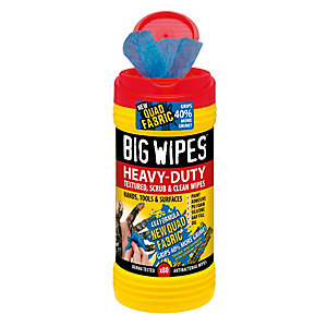 Big Wipes 4 x 4 Formula Heavy-duty Textured, Scrub & Clean Wipes, 80 Pack