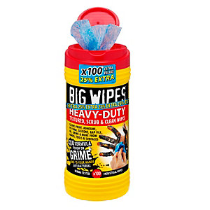 Big Wipes 4 x 4 Heavy Duty Wipes 100's