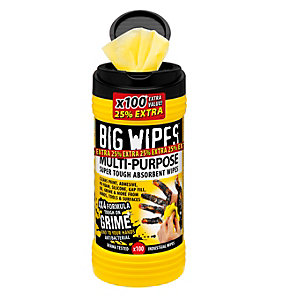 Big Wipes 4 x 4 Multipurpose Wipes Box 100