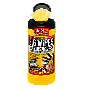 Big Wipes 4x4 Multi Purpose Cleaning Wipes Propack 120 Tub 24120000