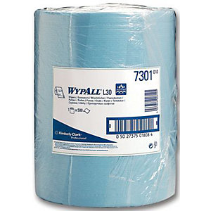 Wypall L30 7300 Wipes Blue Roll 500 Sheet 300 x 240mm